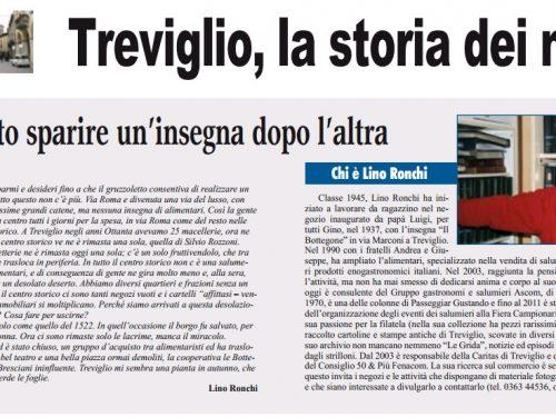 Treviglio : La storia dei negozi di Lino Ronchi