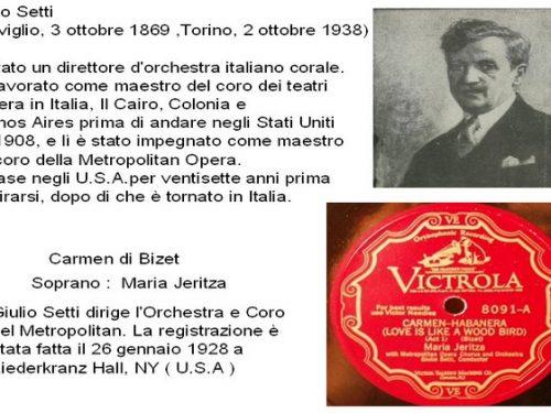 Giulio Setti ( Treviglio 3 ottobre 1869)