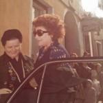 1975 Treviglio Nilla Pizzi in visita alla Galleria Nedalini ( Alessio Cefis )