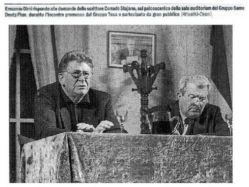 Ermanno Olmi e Corrado Stajano