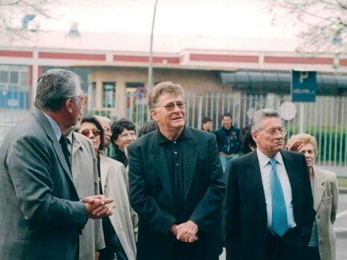 2002 Ermanno Olmi in visita alla Same di Treviglio