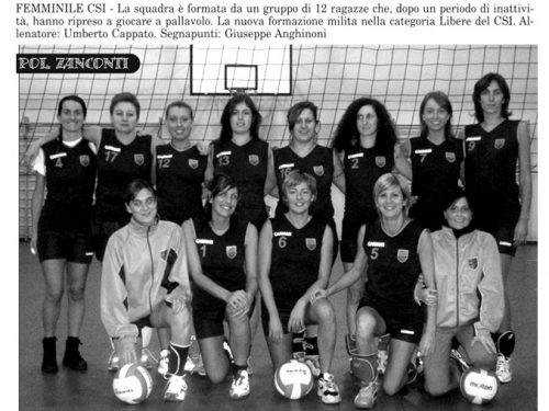 Pallavolo 2004 Zanconti Treviglio Femminile
