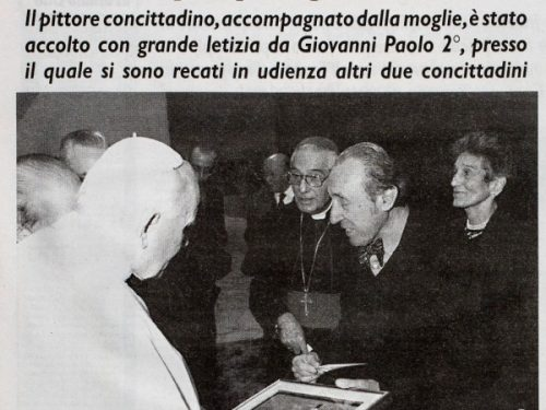 Trento Longaretti udienza dal papa 1996