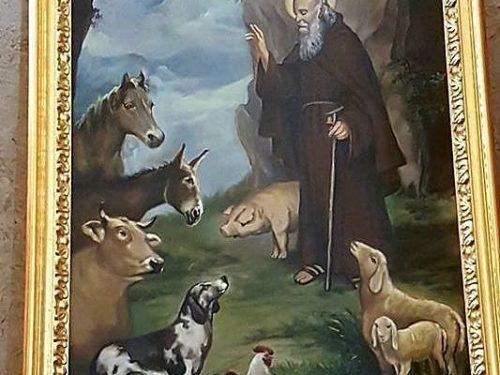 17 Gennaio : S.Antonio Abate (  Dipinto di Mandelli Mariella )