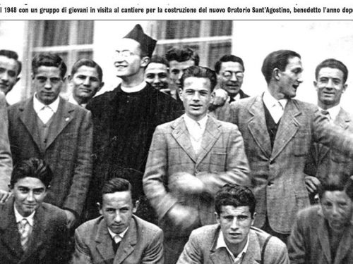 Don Piero nel 1948 Oratorio S.Agostino
