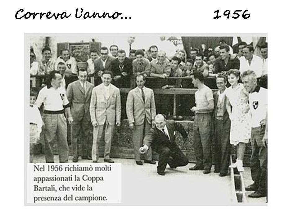 Gino Bartali a Treviglio nel 1956