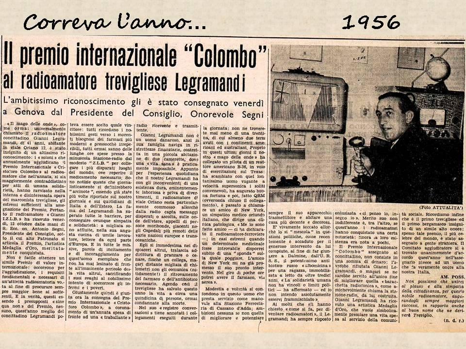 Gianni Legramandi Correva l'anno 1956