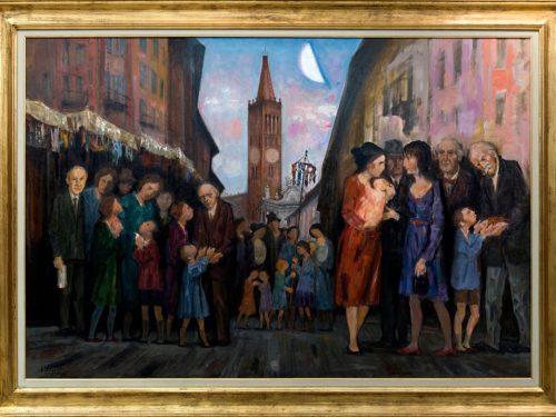 Trento Longaretti quadro in BCC Treviglio foto di Tino Belloli