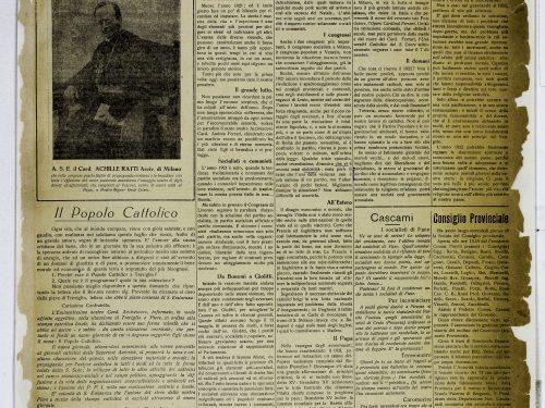 Il popolo Cattolico 1921