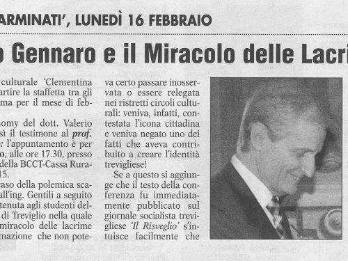 Erminio Gennaro e il miracolo delle lacrime – Popolo Cattolico 14.2.15