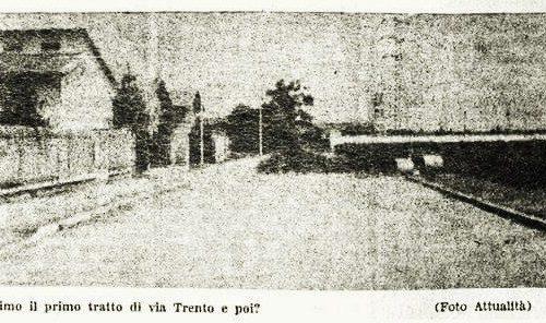 Dove la Via Trento si restringeva ( di Beppe Bresciani )