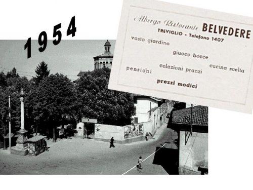 Pubblicità Belvedere Treviglio 1954