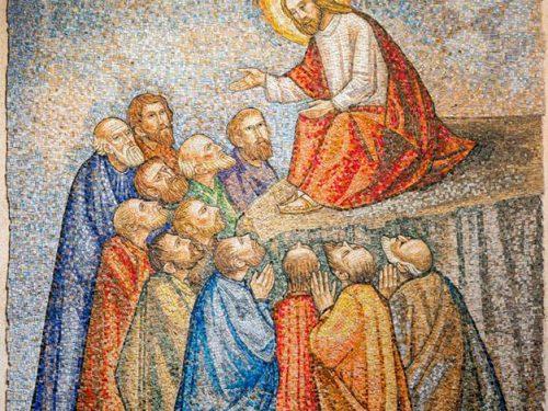 """Chiesa S. Zeno mosaico """" La Parola """" pittore Trento Longaretti mosaicista Toneguzzo"""