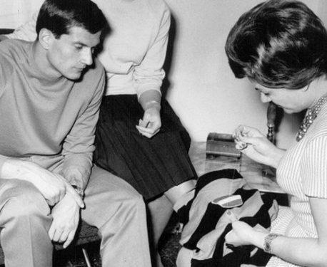 Facchetti : lo scudetto sulla maglia dell'Inter (1963)