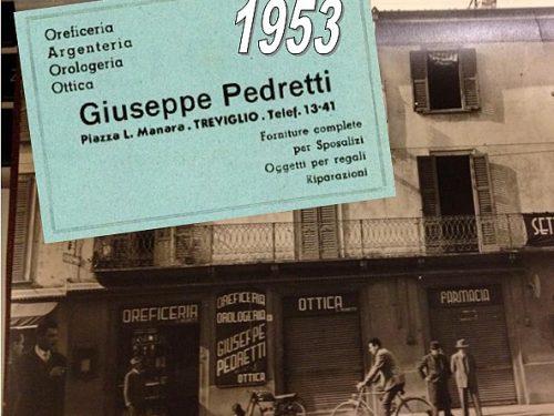 Pubblicità Pedretti 1953 Orologeria Piazza Manara