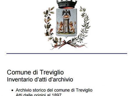 Comune di Treviglio Inventario d'atti d'archivio