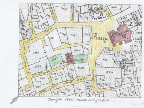 Mappa di Treviglio 1826