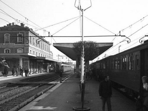Treviglio Stazione Centrale fine anni 50