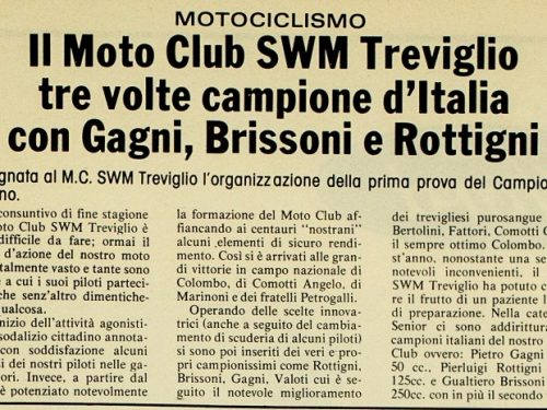 Moto Club SWM Treviglio 1978